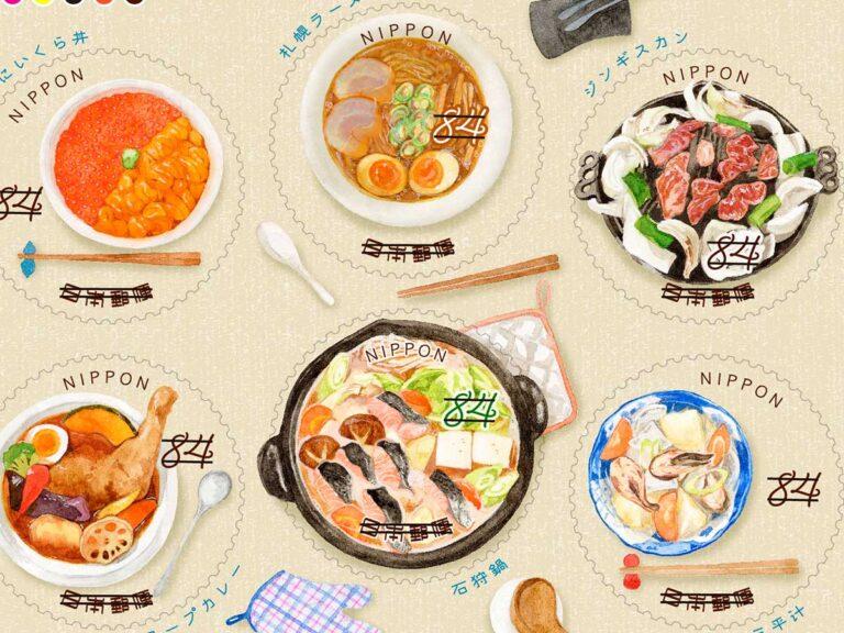 Hokkaido ဒေသအစားအစာကိုဖော်ညွှန်းနေတဲ့ ချစ်စရာတံဆိပ်ခေါင်းလေးများ !!!!