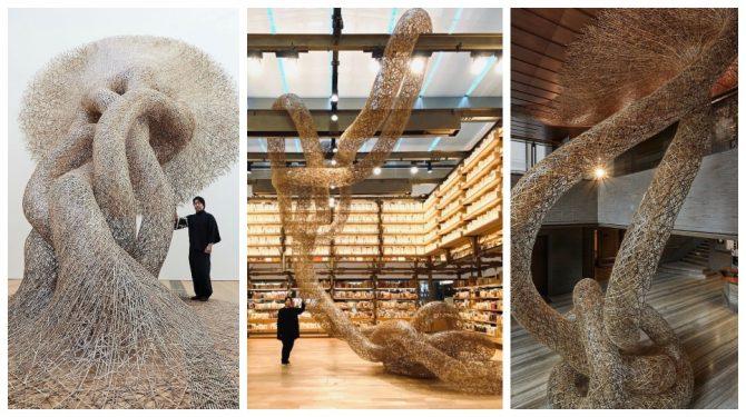 မထင်မှတ်လောက်စရာ ခမ်းနားထည်ဝါသောဝါးပန်းပုများ၏ဖန်တီးရှင် Tanabe Chiku'unsai