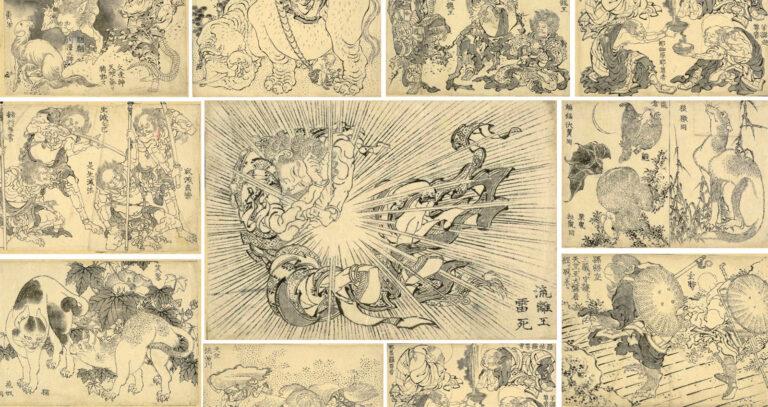 Manga ရဲ့ကနဦးအစ?  Katsushika Hokusai ၏လက်ရာများကို အခမဲ့ဖြန့်ဝေပေးနေပြီ။